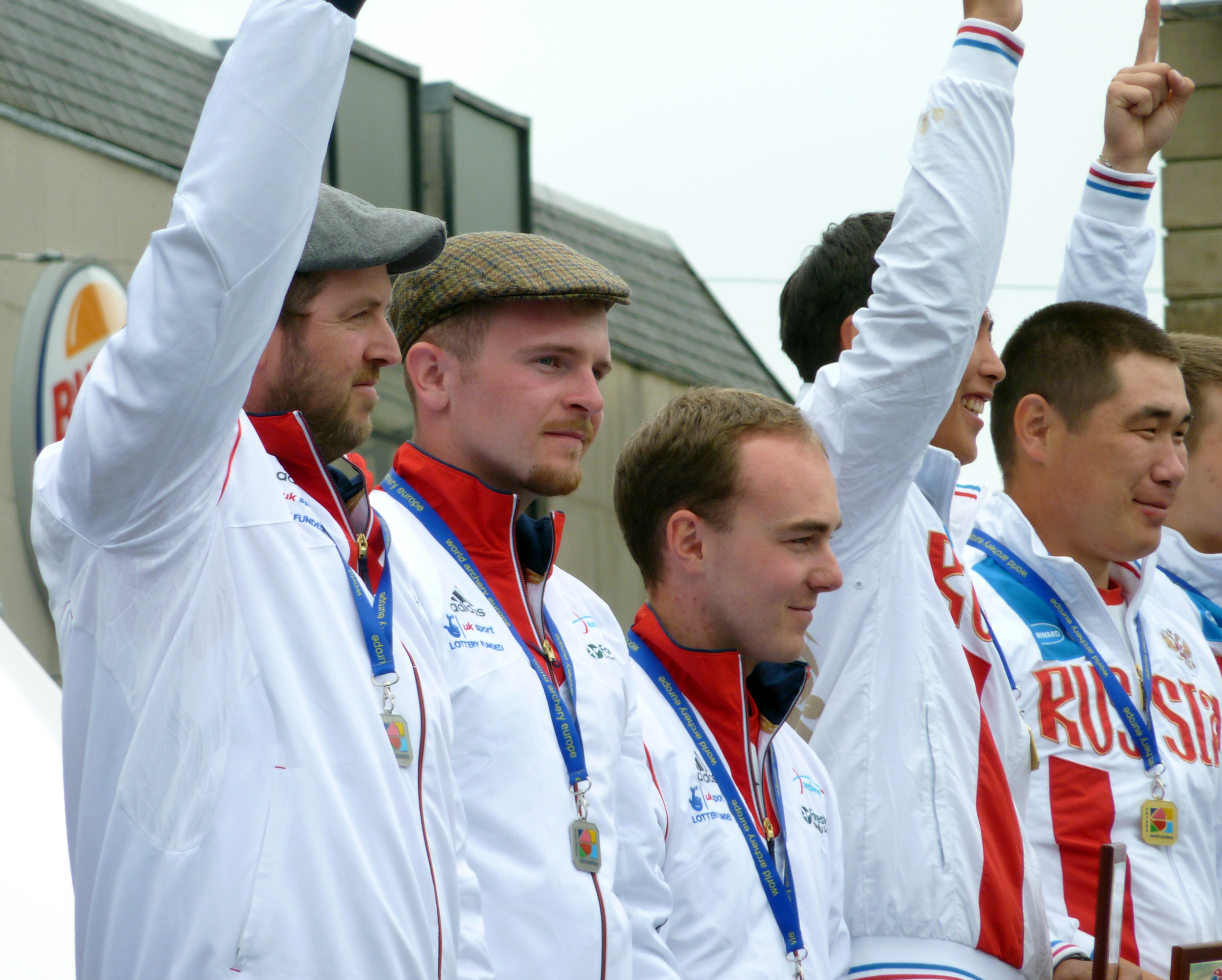 Team GB on the podium