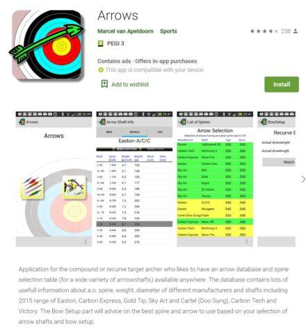 Arrows app on Google Play