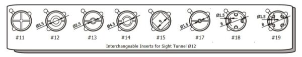 Beiter Sight Tunnel 12mm Inserts
