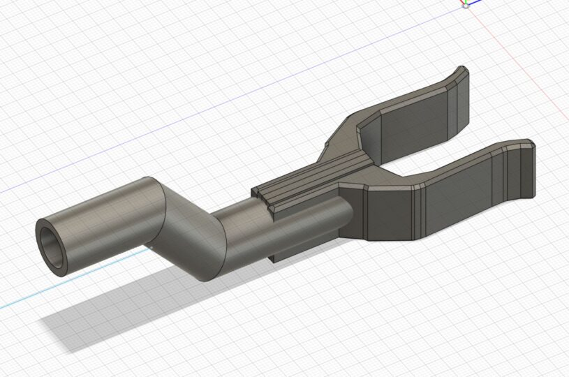 Angled RX10 Bow Stand in Fusion 360
