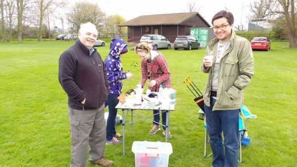 outdoor tea at archery practice