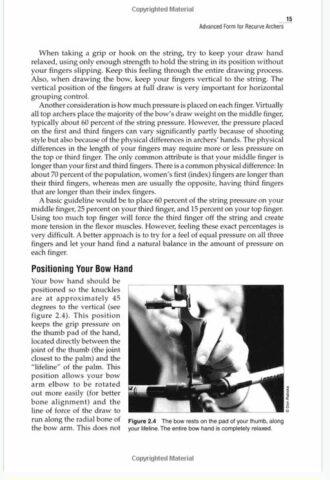 page de tir à l'arc de précision