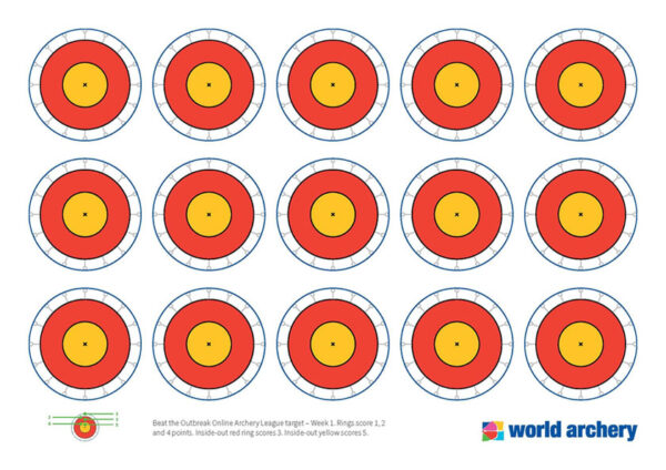 cible de tir à l'arc mondial semaine 1